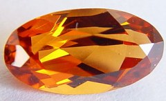 2.37 carats oval spessartite garnet gemstone, orange garnet, exclusive loose faceted spessartine garnets, gemstones shopping