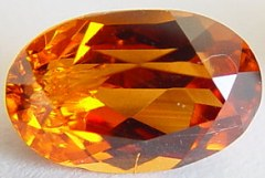2.46 carats oval spessartite garnet gemstone, orange garnet, exclusive loose faceted spessartine garnets, gemstones shopping