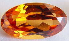 2.86 carats oval spessartite garnet gemstone, orange garnet, exclusive loose faceted spessartine garnets, gemstones shopping