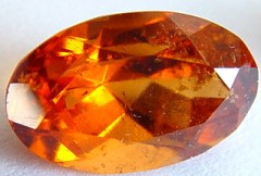 3.20 carats oval spessartite garnet gemstone, orange garnet, exclusive loose faceted spessartine garnets, gemstones shopping