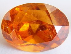 3.46 carats oval spessartite garnet gemstone, orange garnet, exclusive loose faceted spessartine garnets, gemstones shopping