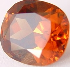 7.84 carats cushion Malaya garnet gemstone, orange garnet, exclusive loose faceted malaya garnets, pyrope spessartite shopping