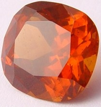12.81 carats cushion Malaya garnet gemstone, orange garnet, exclusive loose faceted malaya garnets, pyrope spessartite shopping