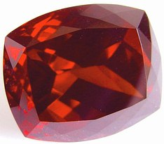 50.30 carats cushion spessartite garnet gemstone, orange garnet, exclusive loose faceted spessartine garnets, gemstones shopping