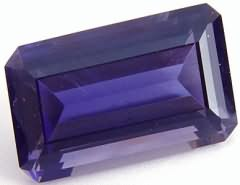 7.79 carats octagon iolite gemstone, blue gems, exclusive loose faceted iolites, gemstones shopping