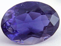 5.50 carats oval iolite gemstone, blue gems, exclusive loose faceted iolites, gemstones shopping
