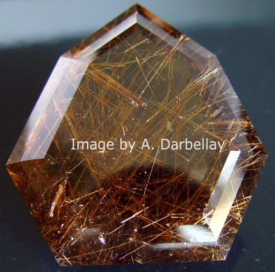 Rutile needles Quartz inclusions, Madagascar mineral, gemstone information data