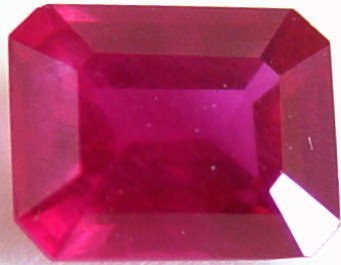 0.80 carats octagon ruby gemstone, transparent gems, exclusive loose faceted rubies, gemstones shopping