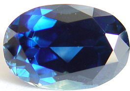 6.56 carats untreated blue sapphire gemstone, transparent gems, exclusive loose faceted sapphires, gemstones shopping