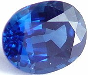 1.89 carat untreated blue sapphire gemstone, transparent gems, exclusive loose faceted sapphires, gemstones shopping