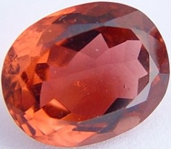 Peach oval tourmaline gemstone, exclusive loose faceted tourmalines, Madagascar gemstones shopping