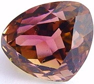 Trillion Bi-color tourmaline gemstone, exclusive loose faceted tourmalines, Madagascar gemstones shopping