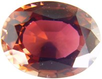 Oval Peach tourmaline gemstone, exclusive loose faceted tourmalines, Madagascar gemstones shopping