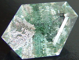 Chlorite Quartz inclusions, Madagascar mineral, gemstone information data