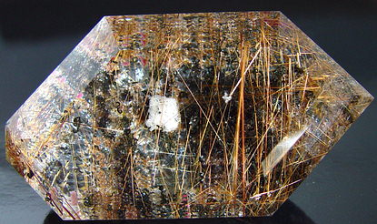 70 grams rutilated quartz gemstone, transparent gems rutile needles aquatic chlorite landscape, exclusive loose faceted quartz, gemstones shopping